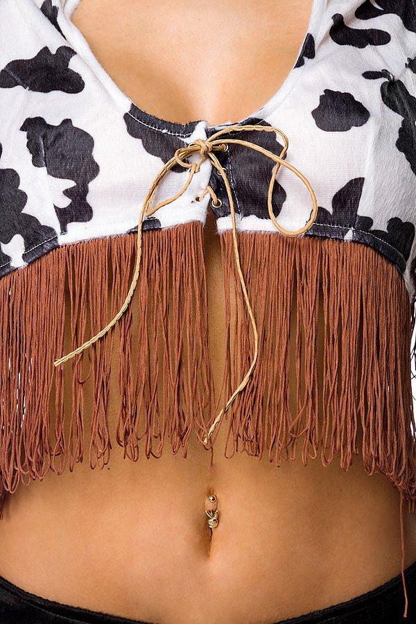 Rodeo Girl Komplettset braun/weiß/schwarz
