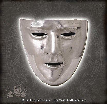 Römische Gesichtsmaske Messing verzinnt