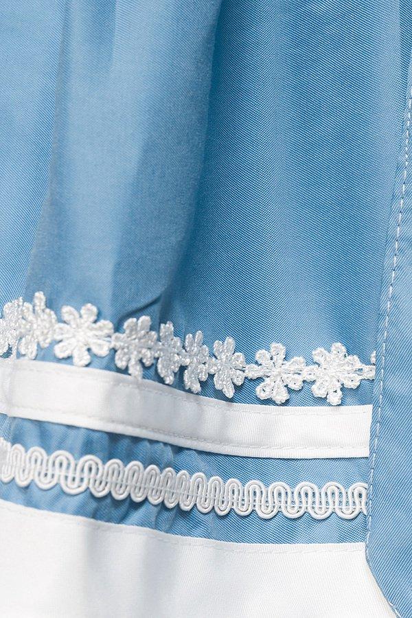 Romatisches Blümchen-Dirndl weiß/blau