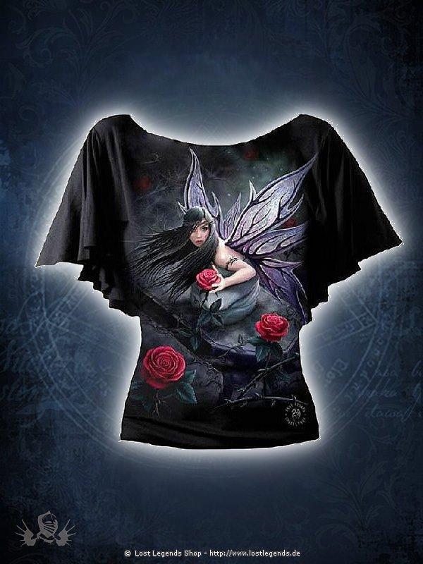 Rose Fairy Girlie Bootskragen Shirt SPIRAL