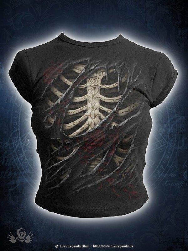 Rose Tattoo Girlie Shirt SPIRAL