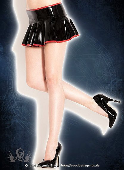 Rubber Cheerleader Skirt Latex