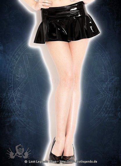 Rubber Cheerleader Skirt Latex