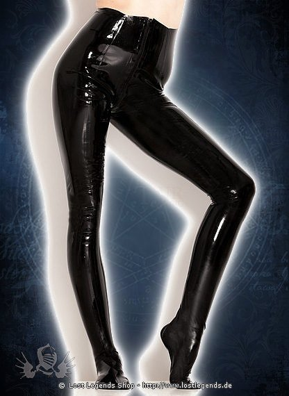 Rubber Leggings With Feet Latex Hose