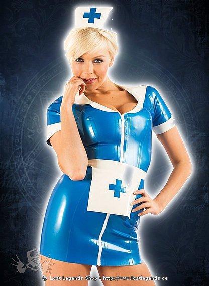 Rubber Night Nurse Dress Latex Kleid