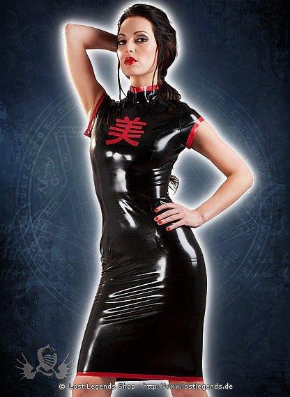 Rubber Nightshade Geisha Latex Kleid