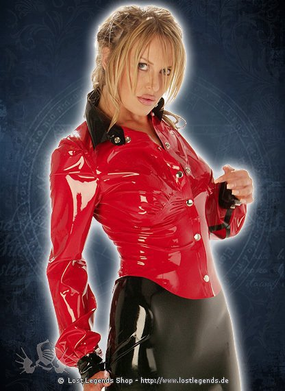 Rubber School Mistress Latex Bluse