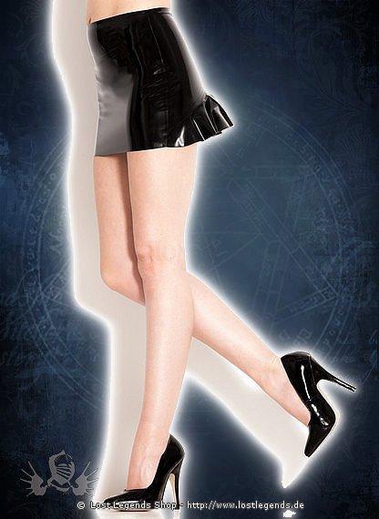 Rubber Teaser Skirt Latex Rock