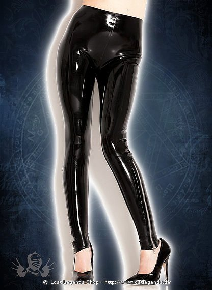 Rubber Zip Leggings Latex Hose