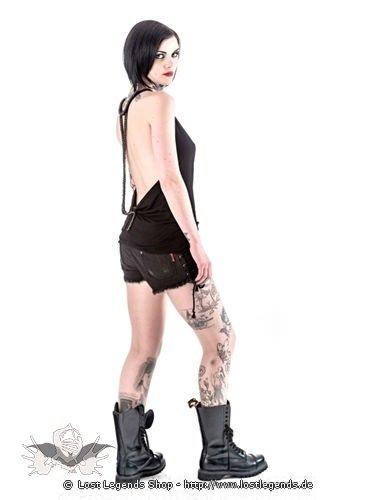 Rückenfreies Goth-Top mit langer Kette