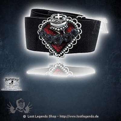 sacred heart nurses belt g rtel mit schnalle alchemy gothic. Black Bedroom Furniture Sets. Home Design Ideas