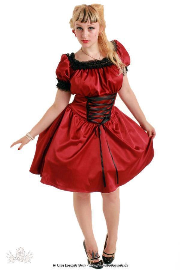 Sadie Satin Short Gothic Dress