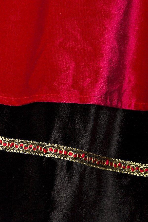 Samt-Dirndl schwarz/rot