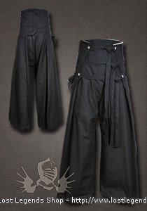 Samurai LARP Hose Baumwolle, schwarz