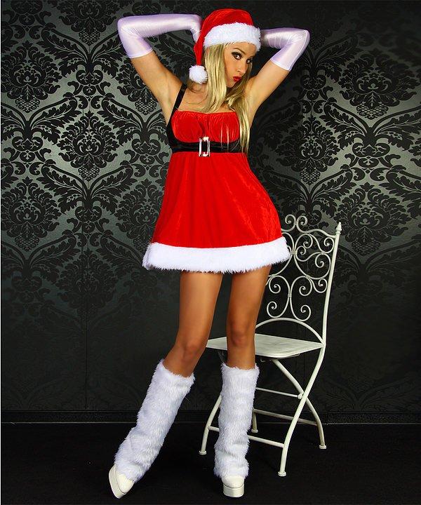 Santa-Babydoll rot/weiß