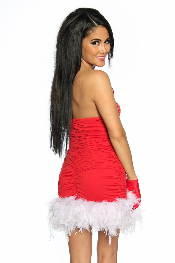 Santa Gogo-Kleid rot/weiß