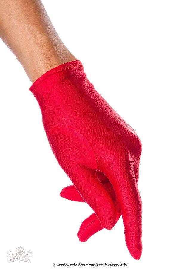 Satin-Handschuhe kurz rot