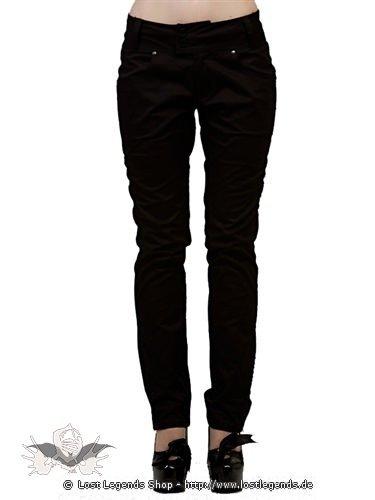Schlichte lange schwarze Hose