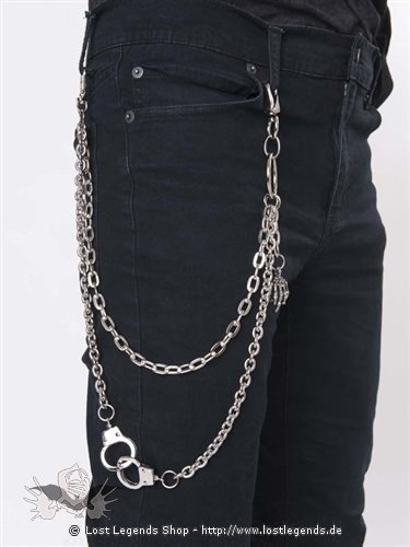 Schlüsselkette 2-fach mit Handschellen
