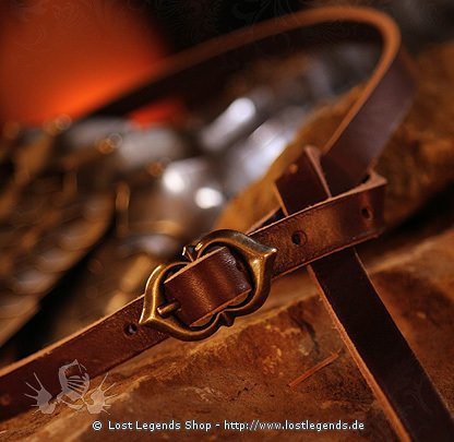 Thin Ladies Belt Leather, length ca. 150 cm