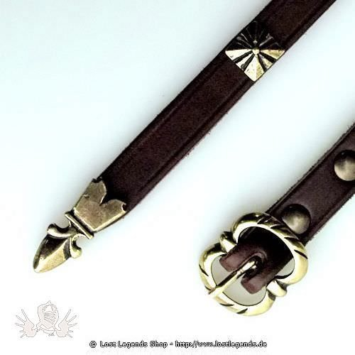 Thin Medieval Belt 1,5 cm with decorative Rivets