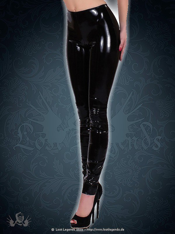 Schwarze Latex Leggings Datex