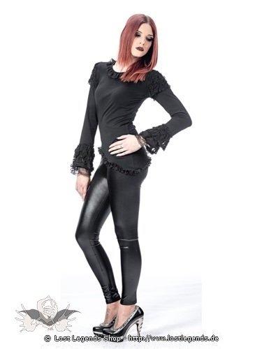 schwarzes shirt mit spitze an armen und saum gothic. Black Bedroom Furniture Sets. Home Design Ideas