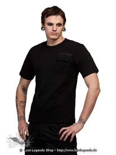 schwarzes t shirt mit brusttasche tops shirts. Black Bedroom Furniture Sets. Home Design Ideas