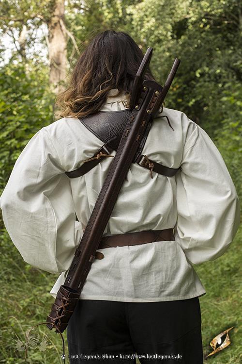 Schwerthalter dunkel braun