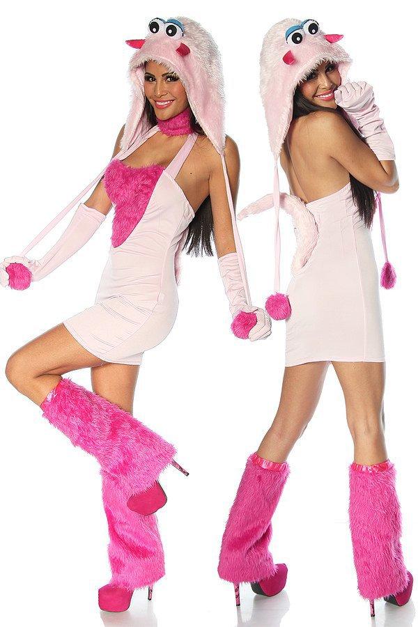 Sexy-Monster-Kostüm pink/rosa