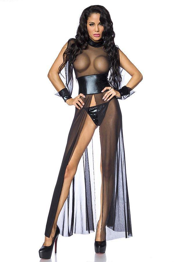sexy Netzkleid schwarz