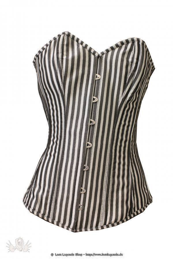 Silver Striped Steampunk Korsett