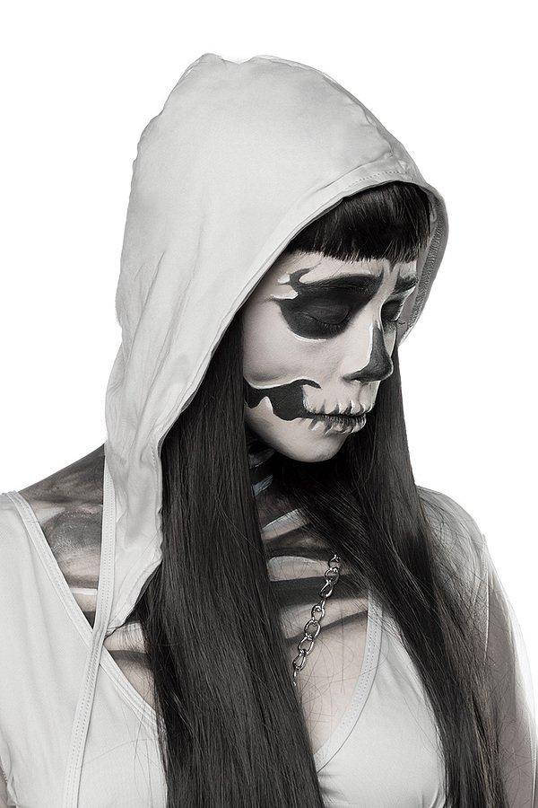 Skeleton Ghost Komplettset grau