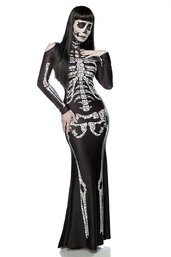 Skeleton Lady schwarz/weiß