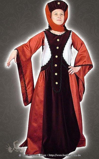 Spätgotisches Kleid Mittelalter Kostüm