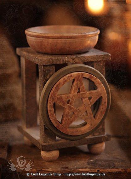 Speckstein Duftlampe Pentagramm