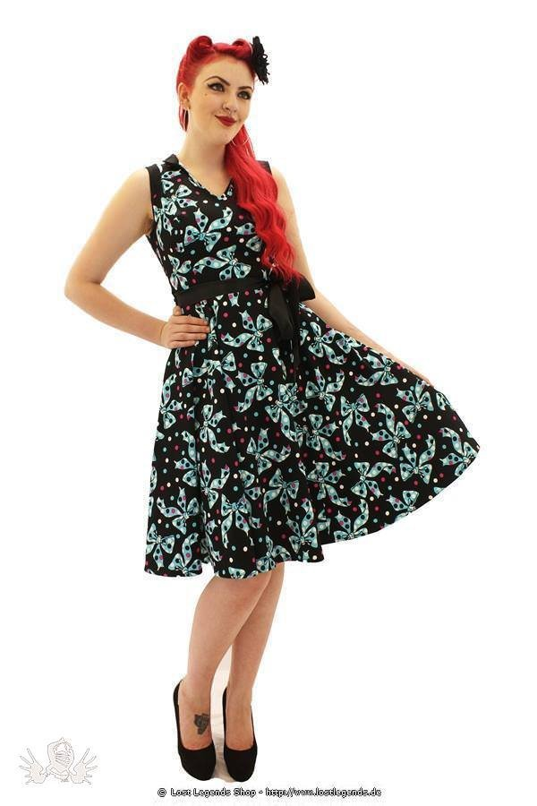 Spot and Bow Pinup Kleid