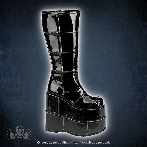 Stack-301 Black Demonia Gothic Stiefel