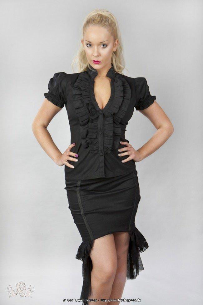 Star Burlesque Bluse mit Rüschen, kurzarm