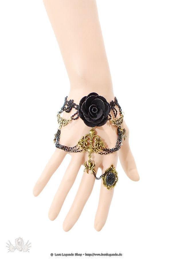 Spider and Rose Steampunk Handkette