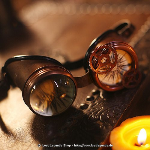 Steampunk Goggles Compass & Magnifyer