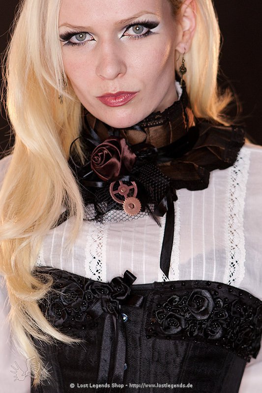 Steampunk Halsband Brown Rose Choker