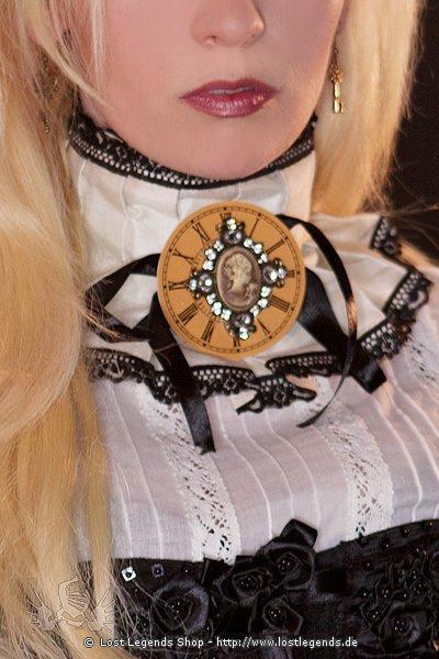 Steampunk Halsband Cream Cameo Choker