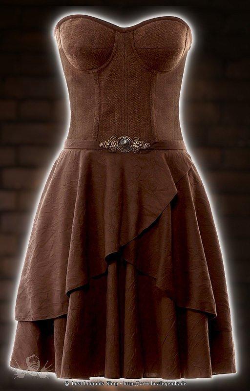 Steampunk Jute-Kleid
