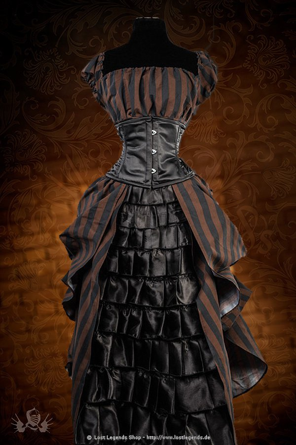 steampunk kleid tesla victorian dress kleider. Black Bedroom Furniture Sets. Home Design Ideas