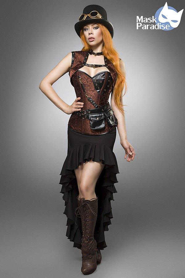 Steampunk Lady braun/schwarz