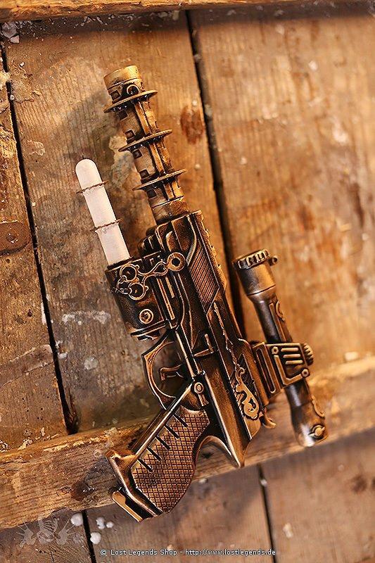 steampunk single tube gun waffen. Black Bedroom Furniture Sets. Home Design Ideas