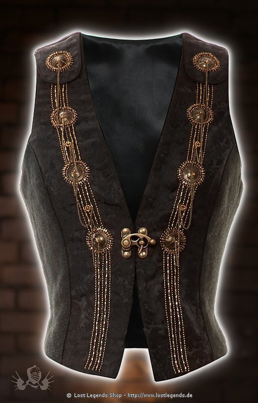 Steampunk Waist Coat Brokat Weste