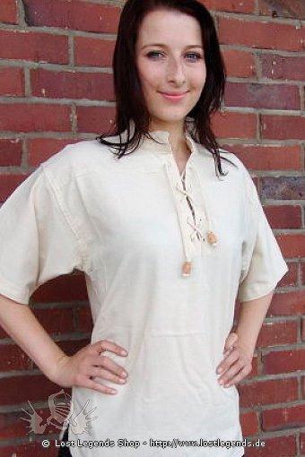 Mittelalter Stehkragenhemd kurzärmlig