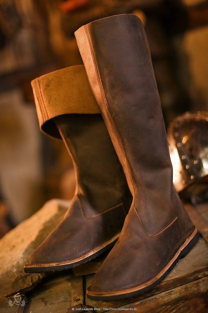 Stiefel mit Lederschnürung Nubukleder